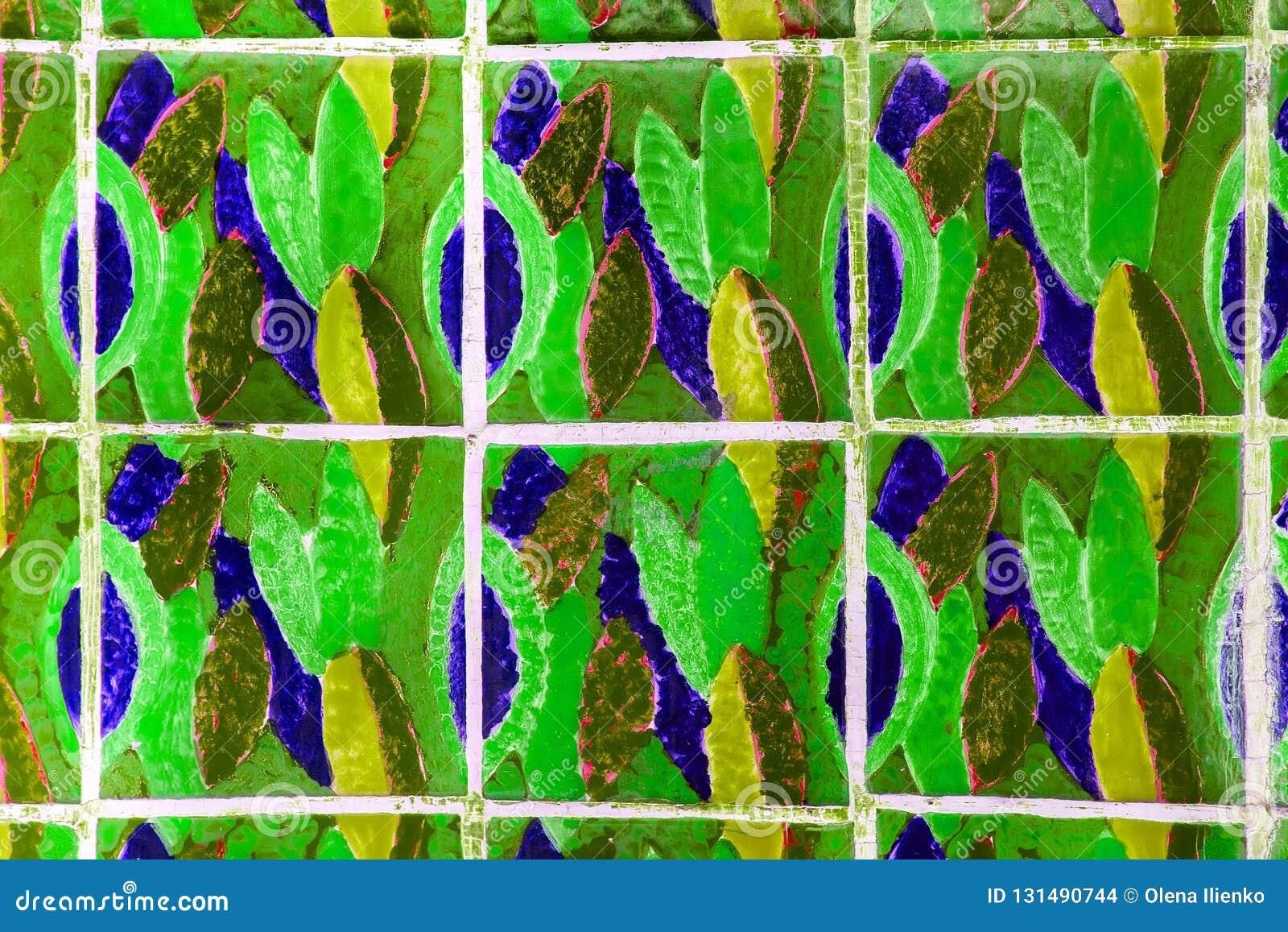 Mattonelle con i fiori illustrazione di stock illustrazione di