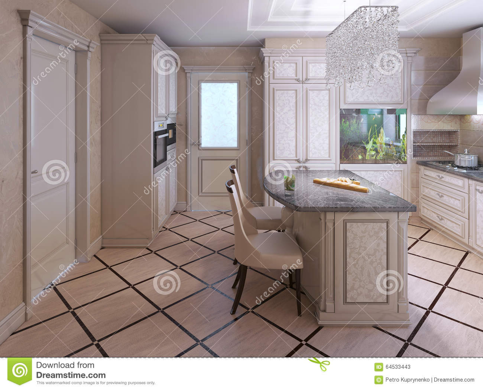 Mattonelle Della Decorazione In Cucina Moderna Immagine Stock ...