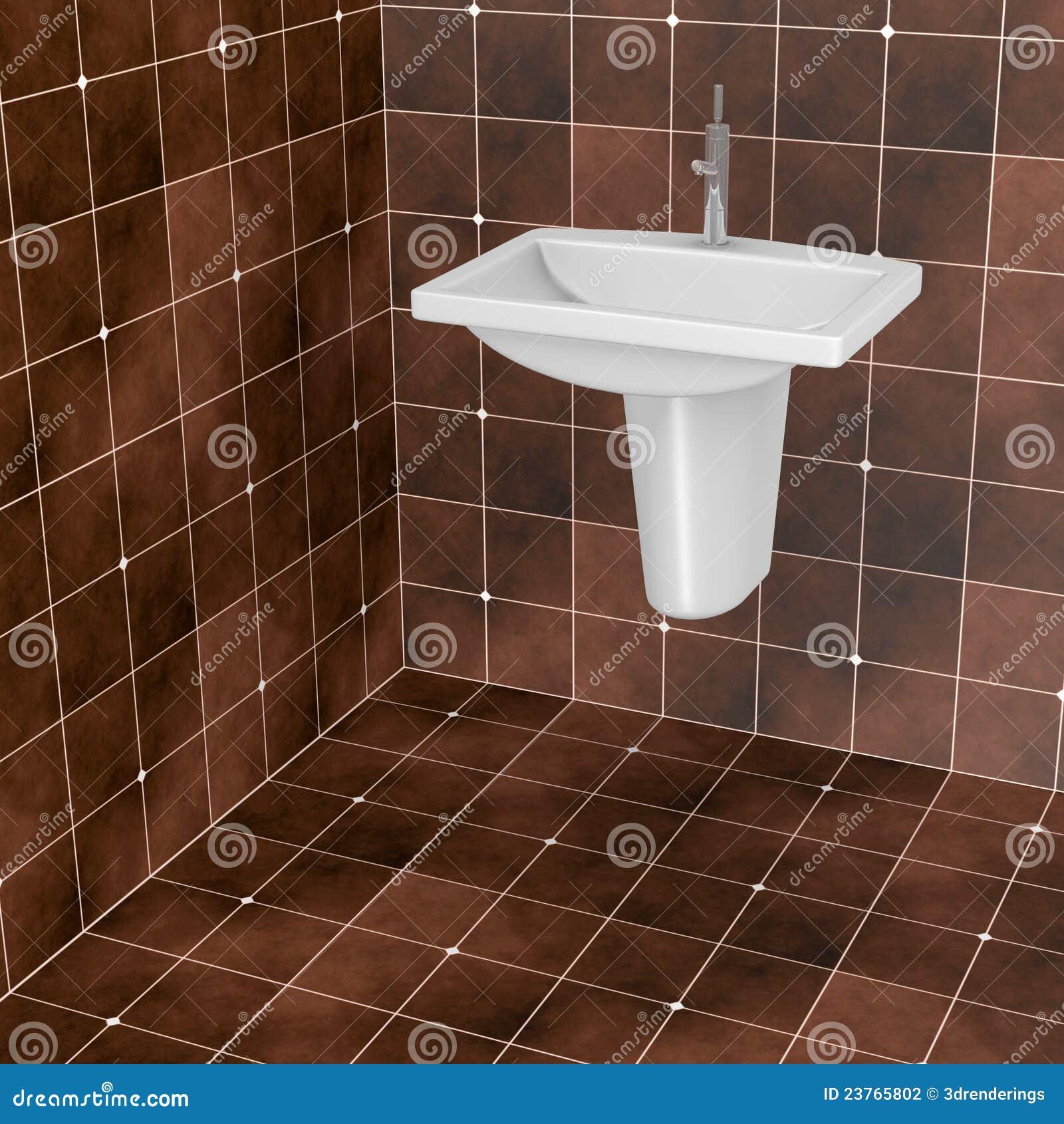 Mattonelle della stanza da bagno di colore marrone scuro fotografia stock immagine 23765802 - Bagno di colore ...