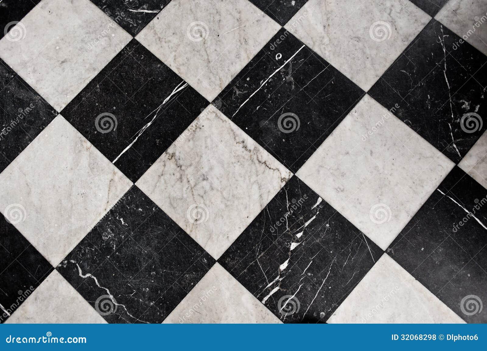 Mattonelle Di Marmo In Bianco E Nero Fotografie Stock Libere da Diritti - Immagine: 32068298