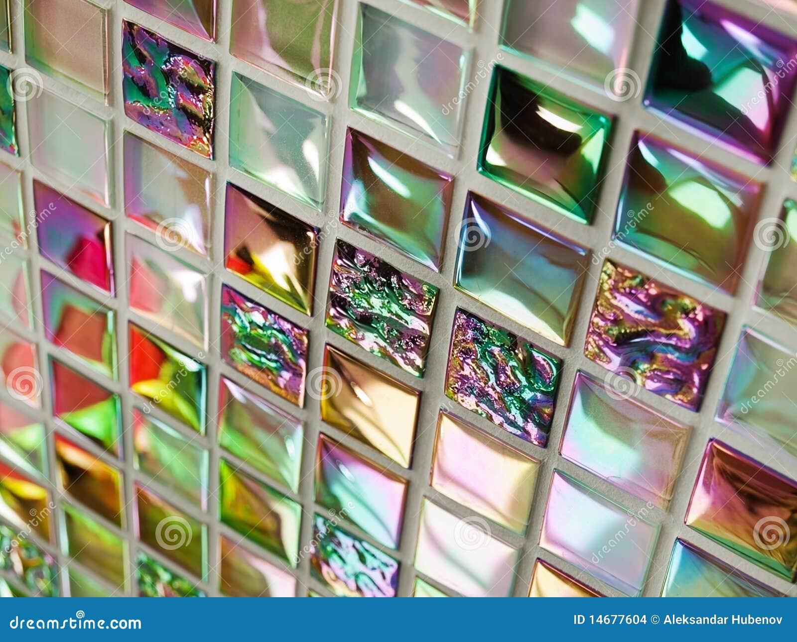 Mattonelle di mosaico di vetro fotografia stock immagine di vetro blocco 14677604 - Mosaico vetro bagno ...