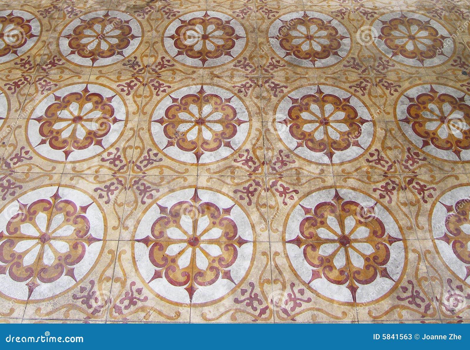 mattonelle di pavimento arabe antiche fotografie stock
