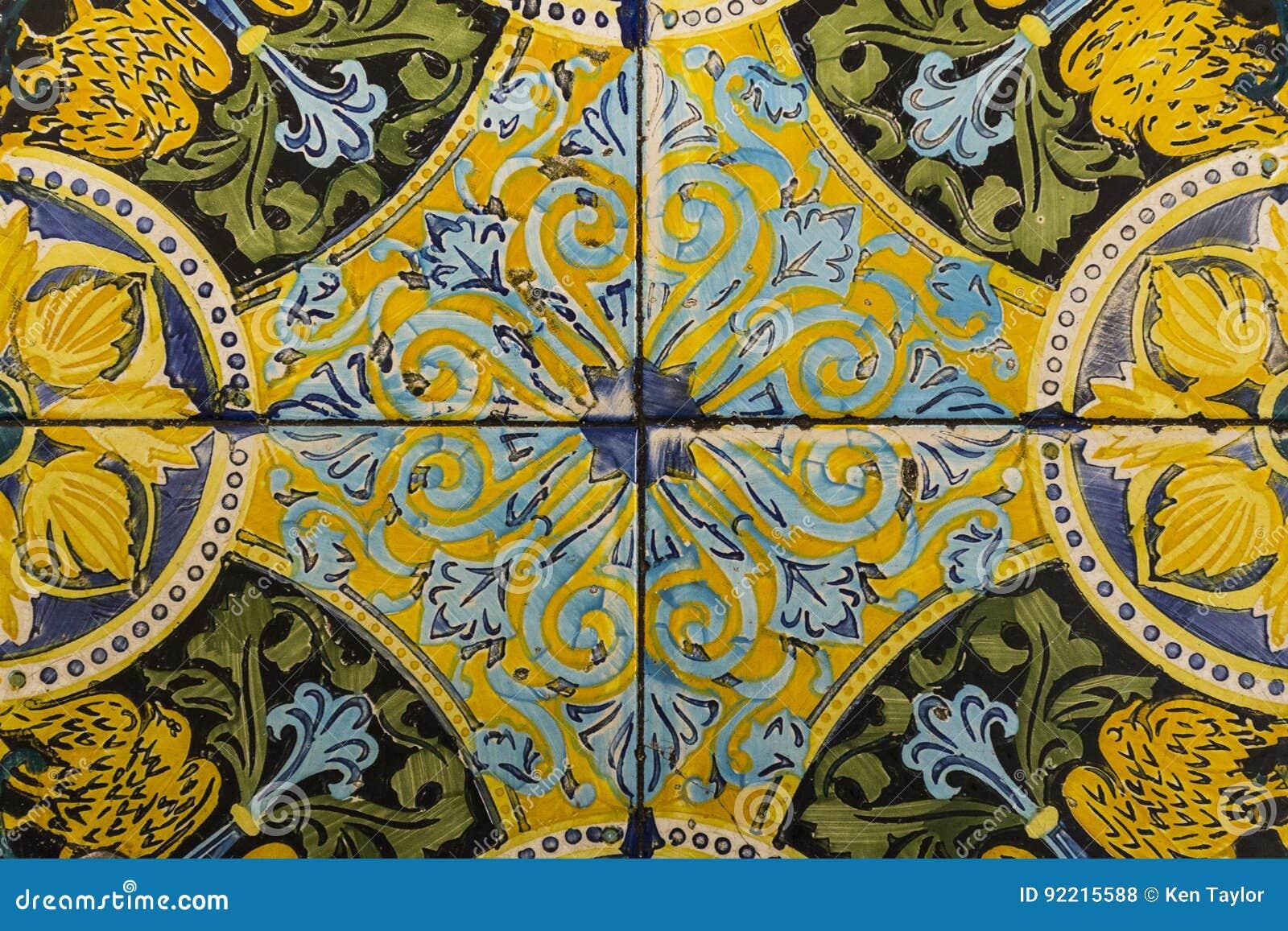 Mattonelle di pavimento decorative fotografia stock immagine di