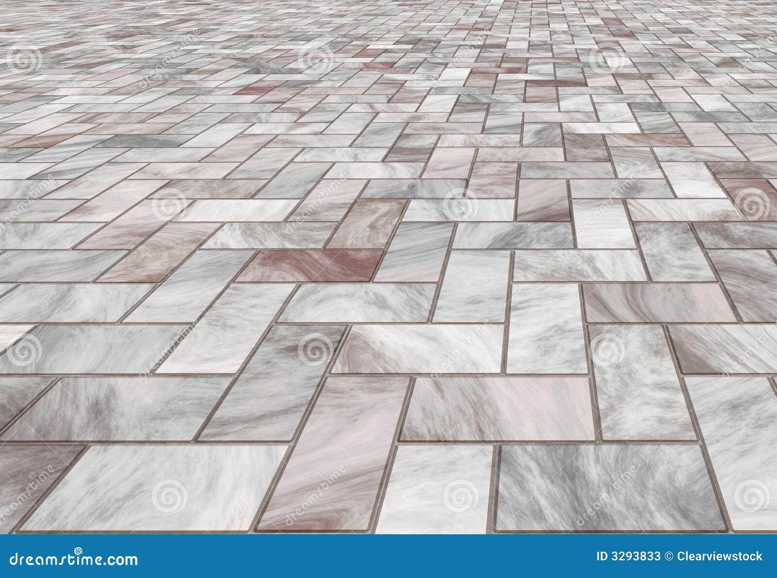 Mattonelle Di Pavimento Di Marmo Pavimentate Fotografie Stock - Immagine: 3293833