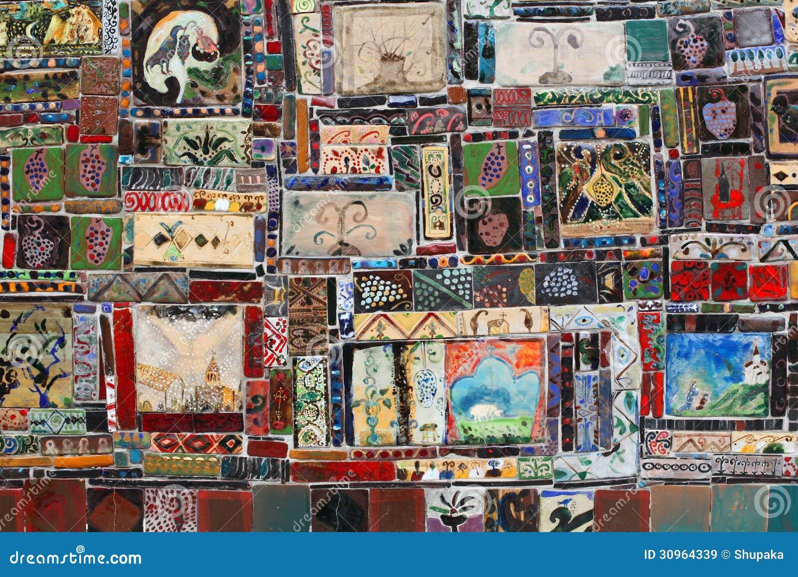 Lotto mattonella piastrella ceramica vietri patchwork