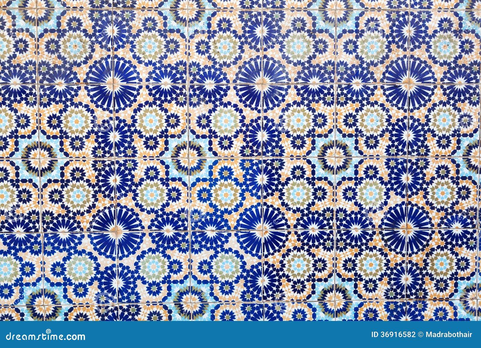 Mattonelle marocchine fotografia stock. immagine di marocchino
