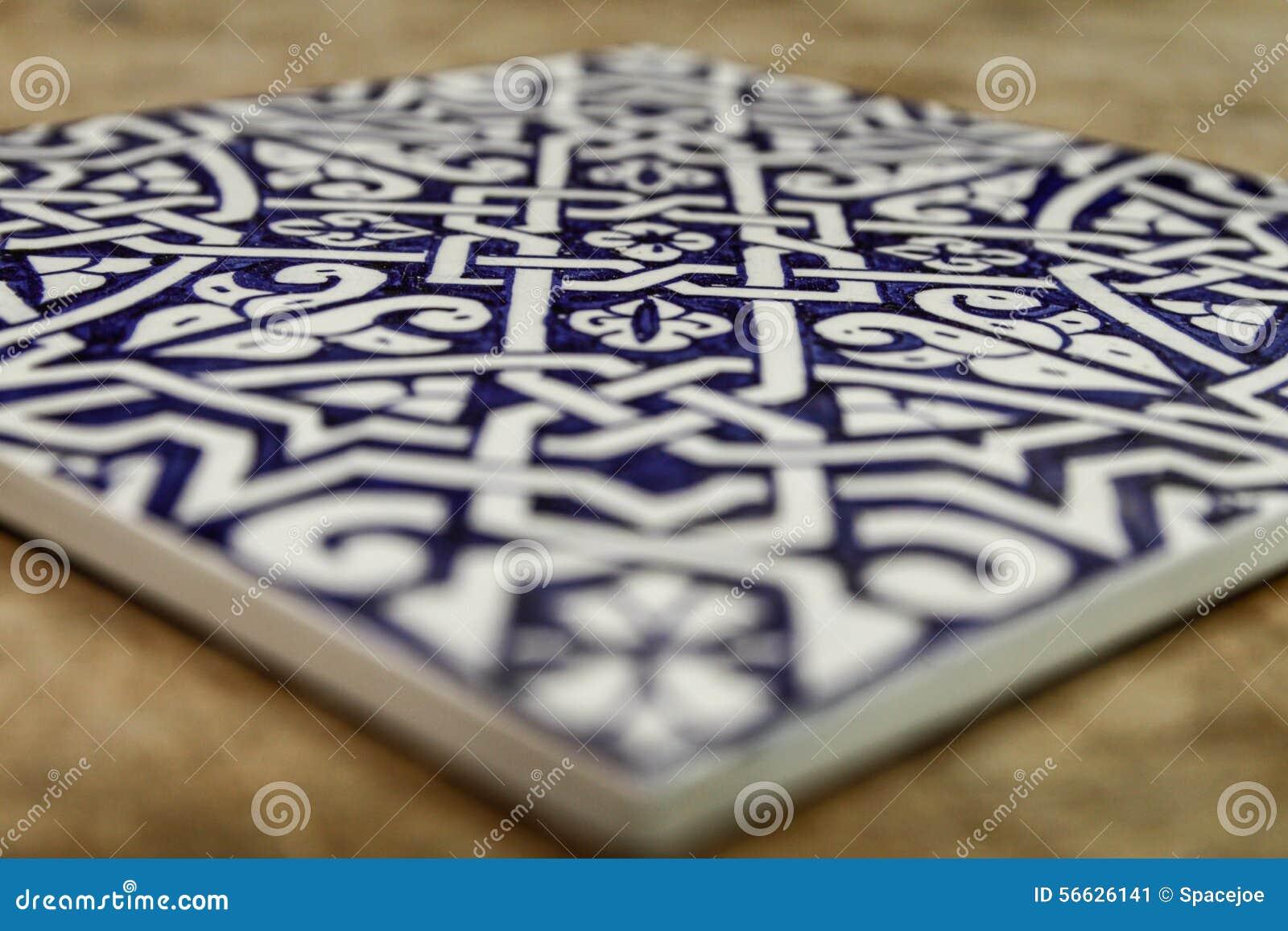 Piastrelle marocchine blu: sfondo vintage con piastrelle marocchine