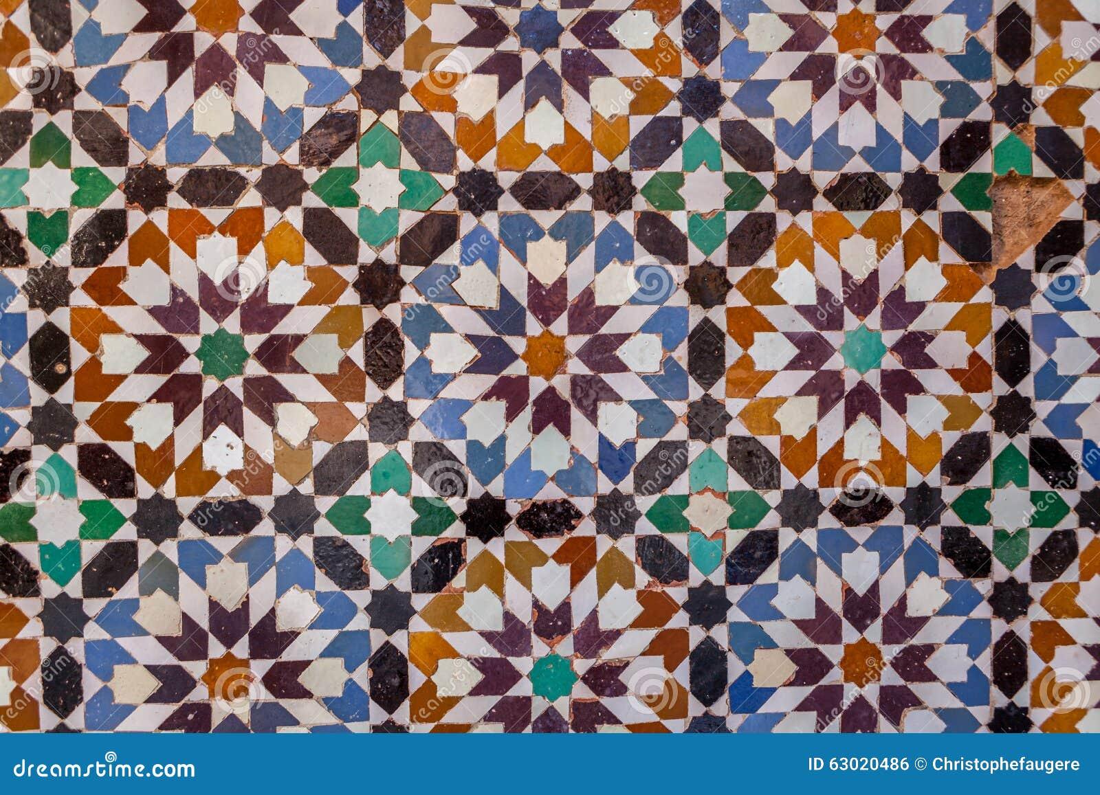 Mattonelle marocchine del cemento fotografia stock immagine di