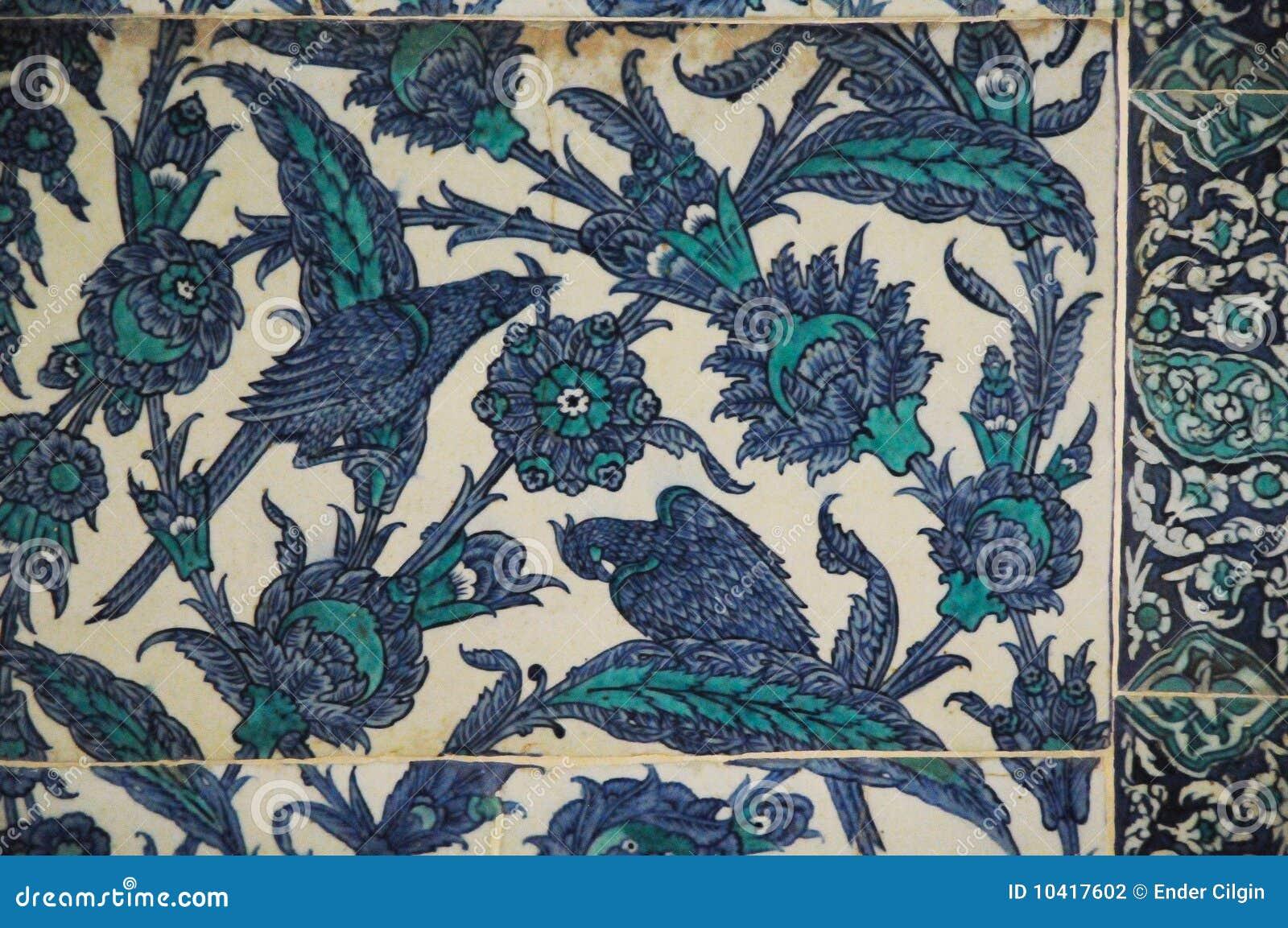 Mattonelle orientali fotografia stock immagine di fiore
