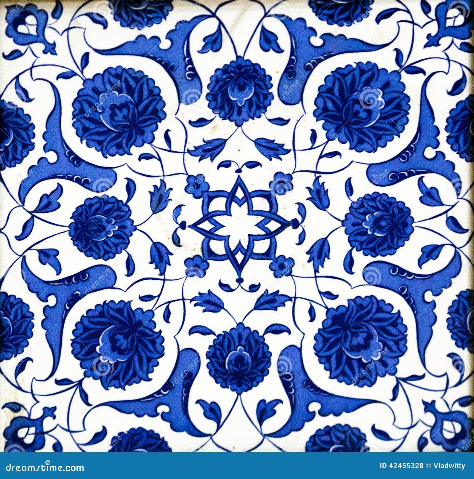 Mattonelle Turche Ceramiche Fotografia Stock Immagine