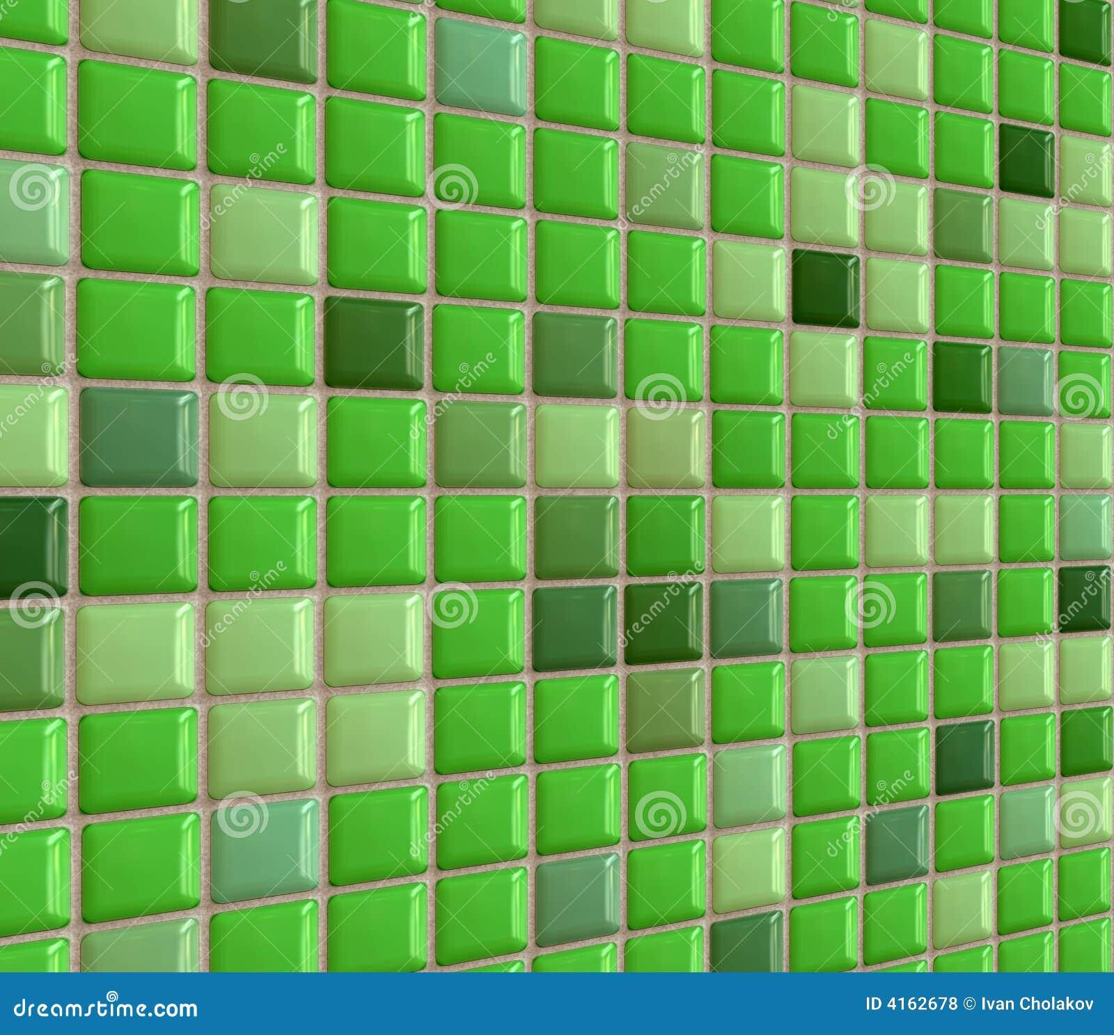 Mattonelle verdi lucide della stanza da bagno illustrazione di stock immagine 4162678 - Mattonelle mosaico per bagno ...
