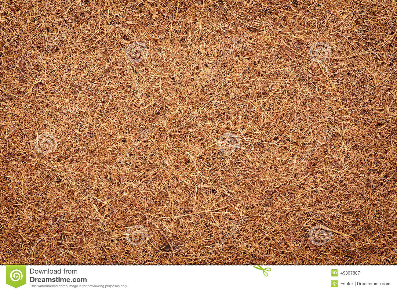 Mattress For A Child Made Of Coconut Fiber. Stock Photo