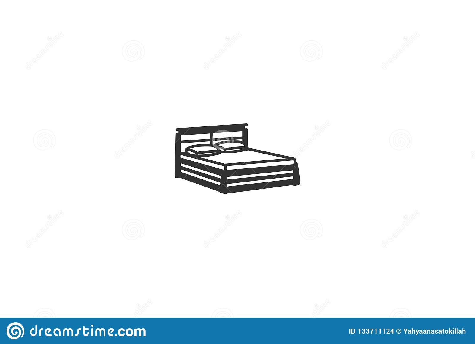 Mattress Mono Line Logo Designs Inspiration Isolated On White Background Stock Illustration Illustration Of Beautiful Item 133711124