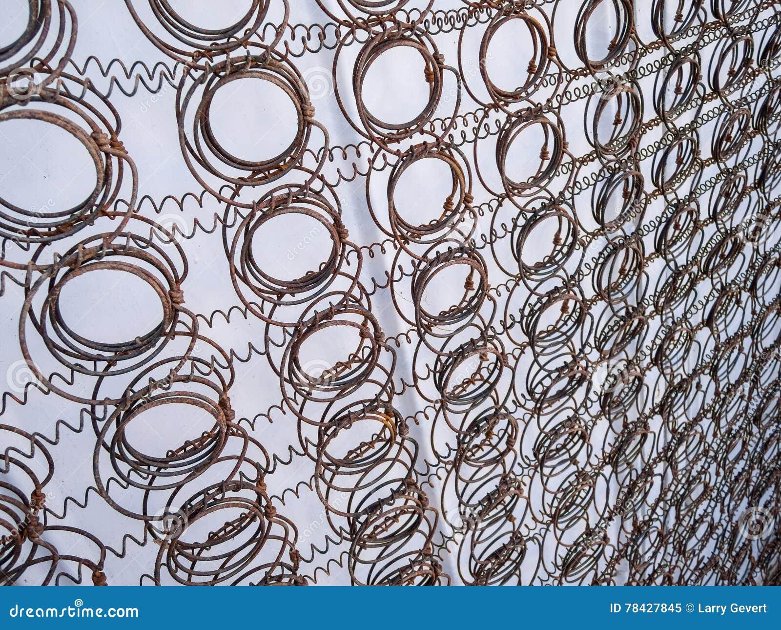 Mattress Spring Pattern Stock Image Image Of Natural 78427845