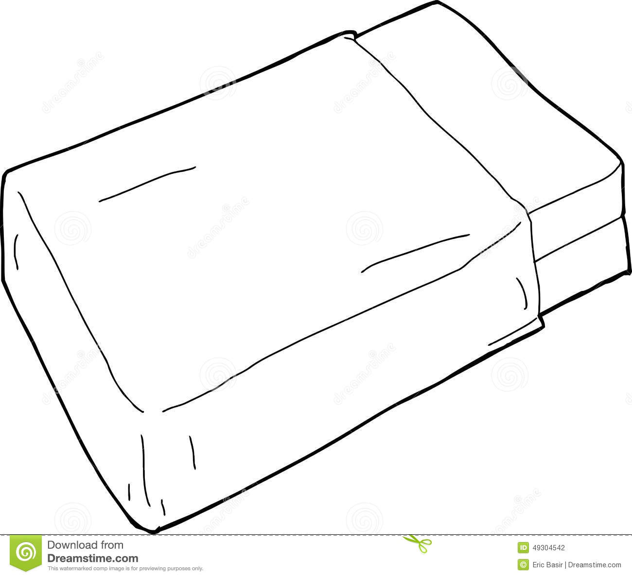 Blanket on bed clipart bangdodo for Picnic blanket coloring page