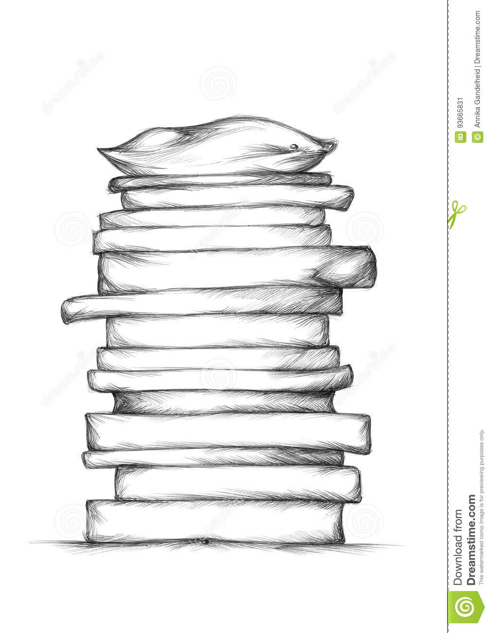 Mattresses Stack Stock Illustration Image Of Serenity