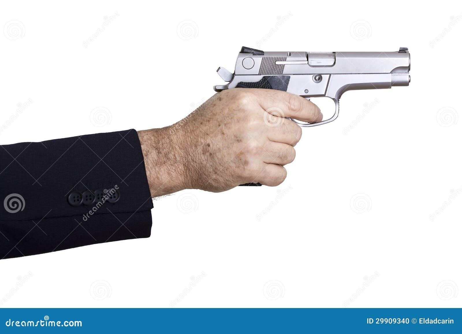 Aiming The Gun Stock Photo - Image: 29909340