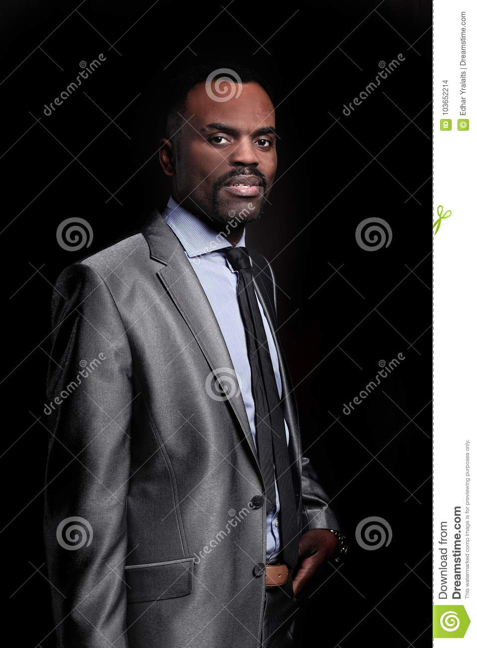 a3786902b97 Mature Black Businessman Wearing Suit And Tie Stock Photo - Image of ...