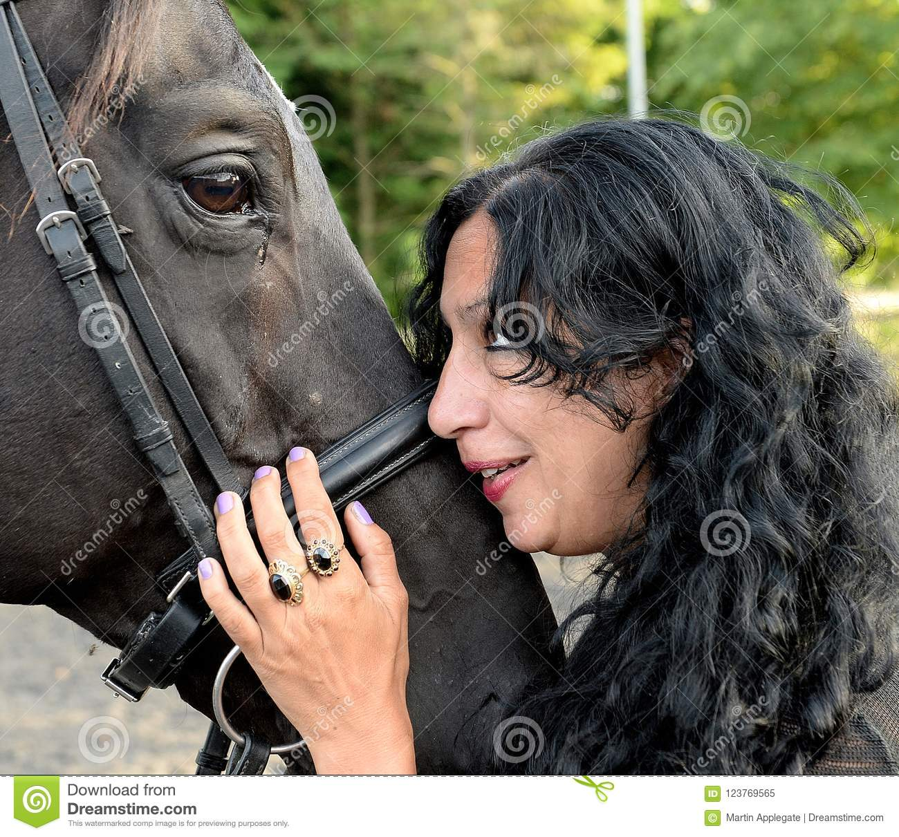 Mature women with horses