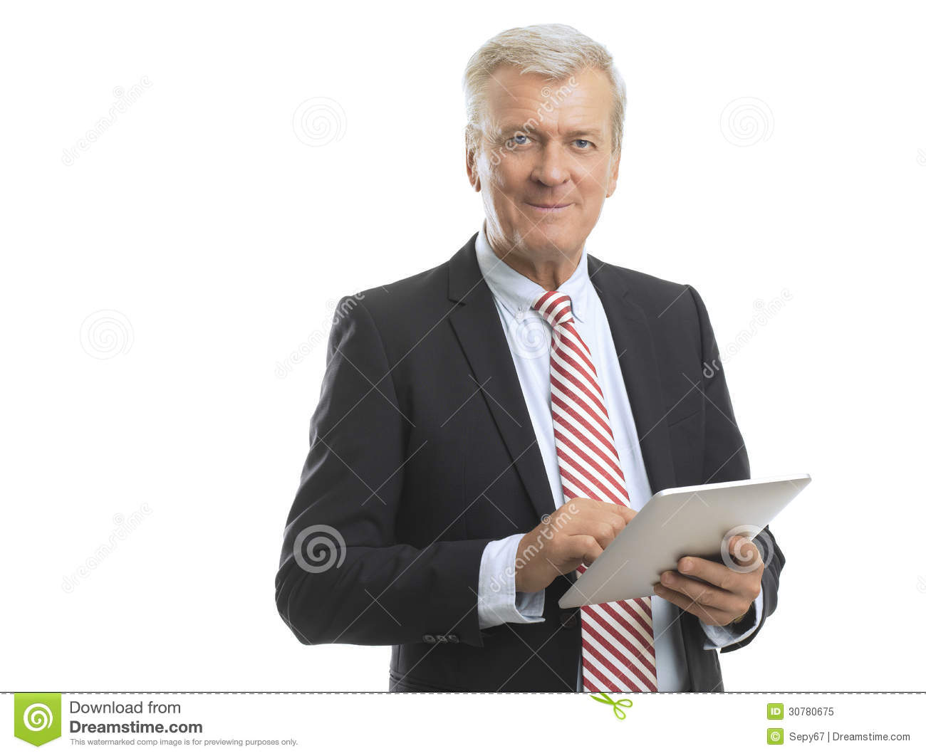 Technology Management Image: Mature Business Man Stock Image. Image Of Happiness, Adult