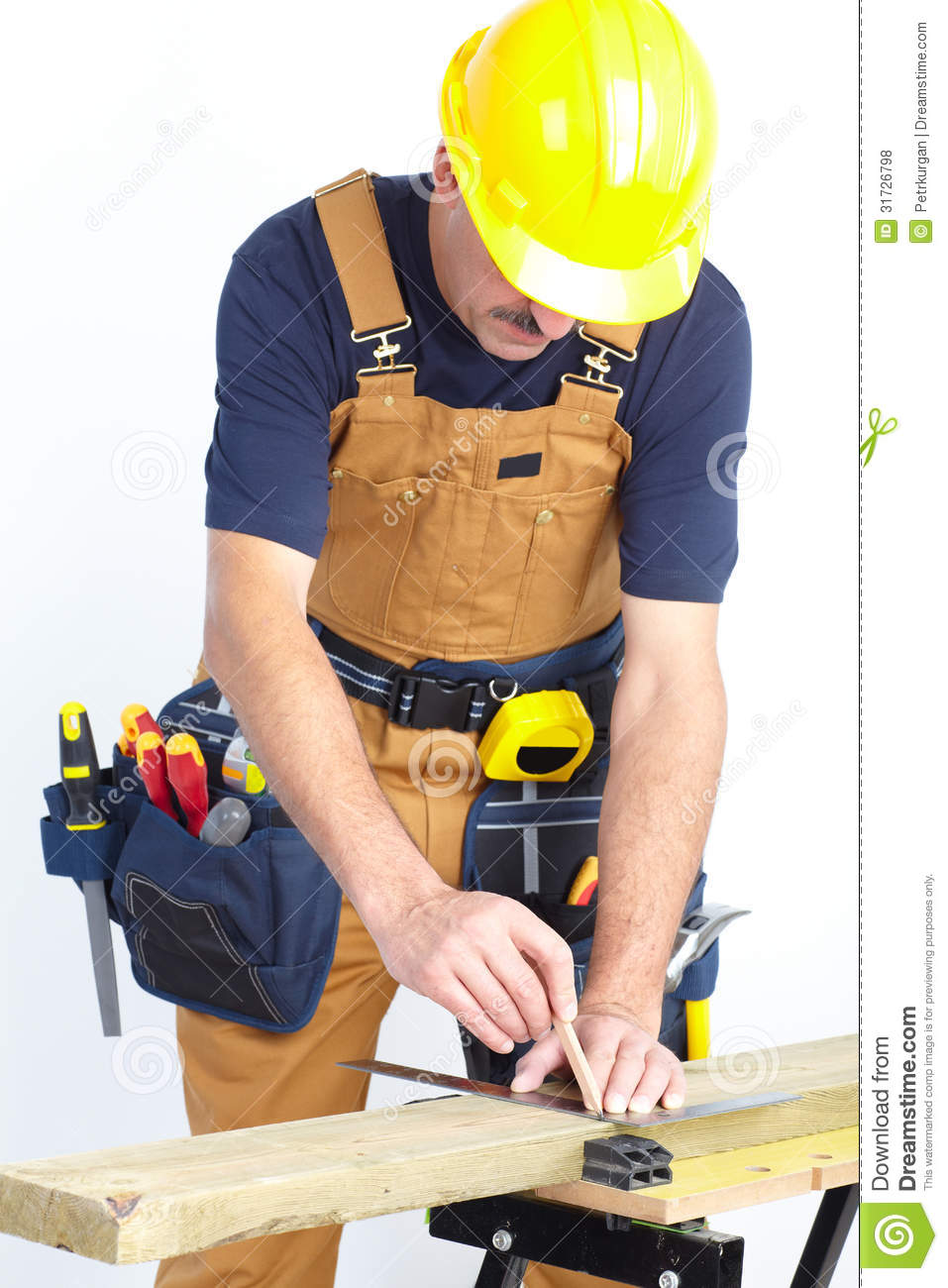 Mature contractor the carpenter royalty free stock photos for 3d setup builder