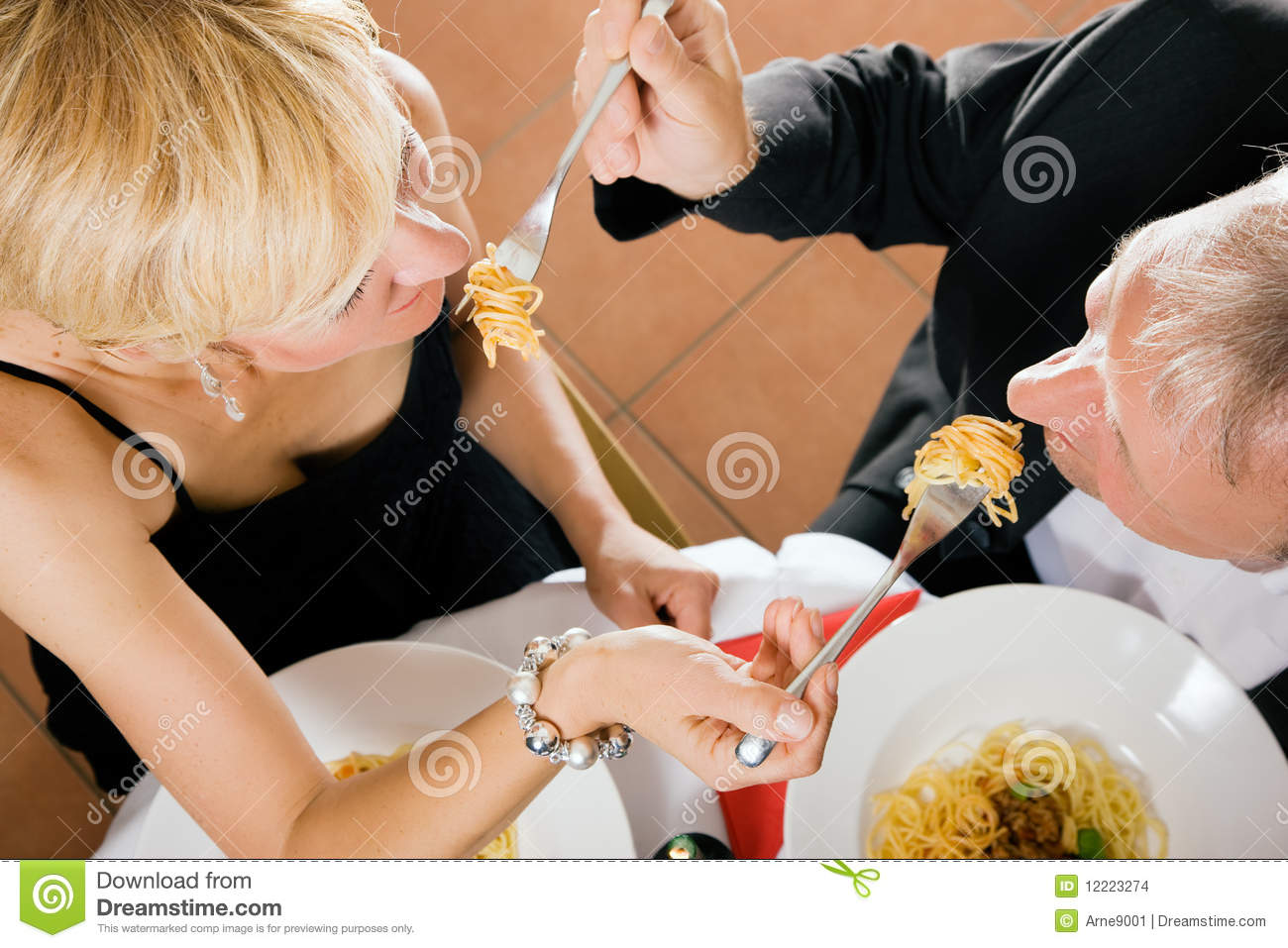 Mature Couple Romantic Dinner Stock Photo Image 12223274