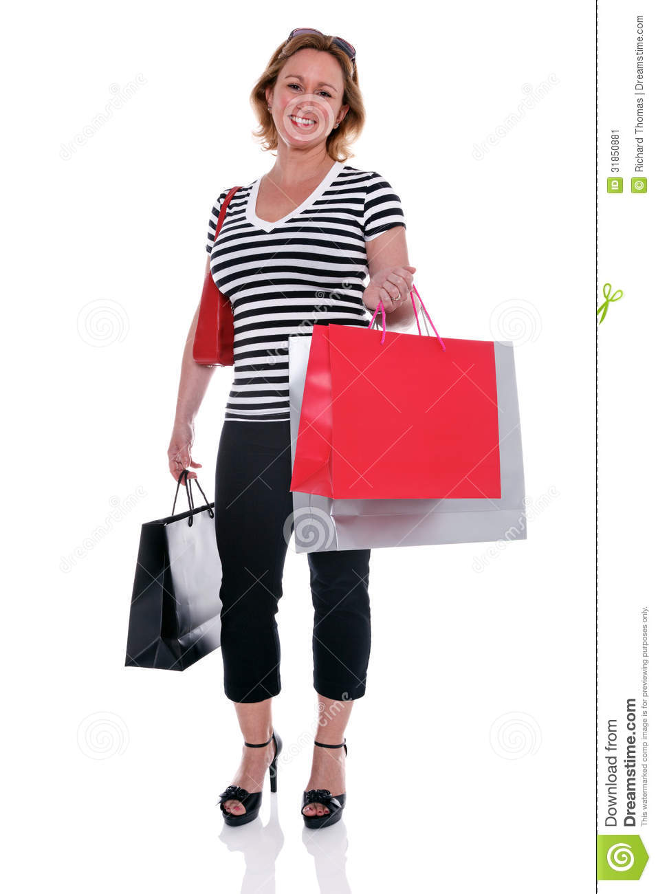 New Woman Holding Shopping Bags Royalty Free Stock Photo - Image 19017865