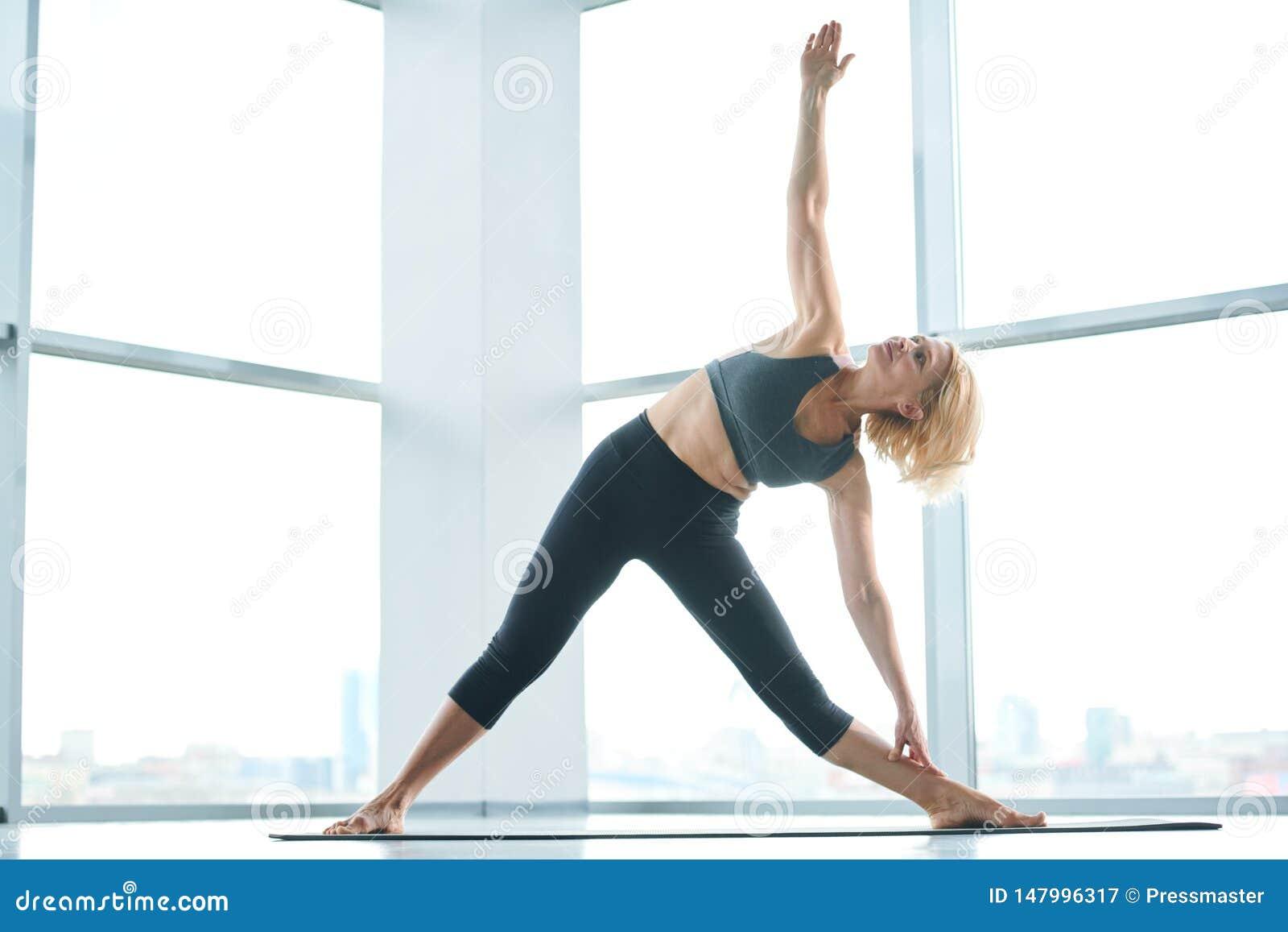 Woman side-bending