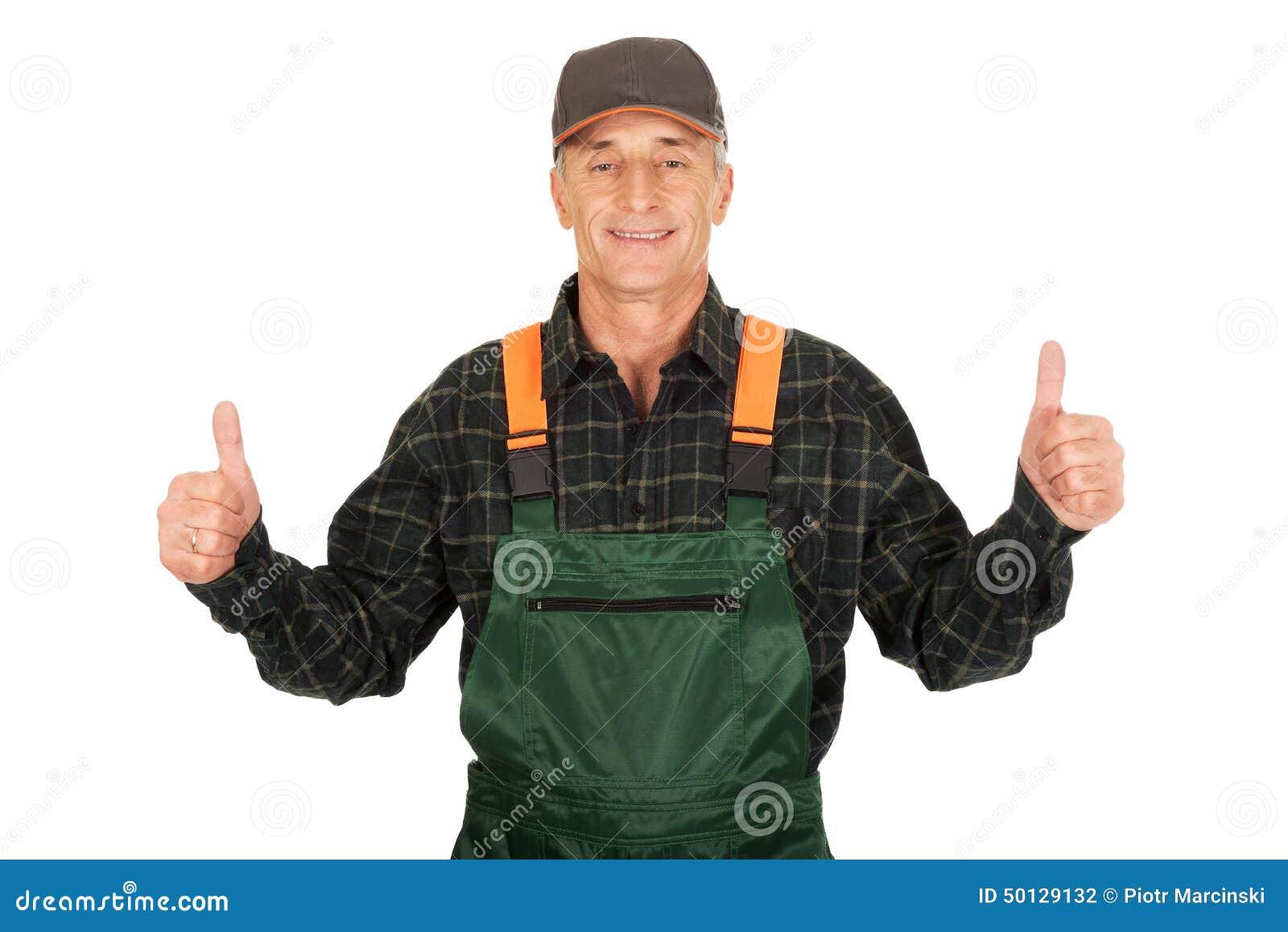 Mature in uniform thumbs