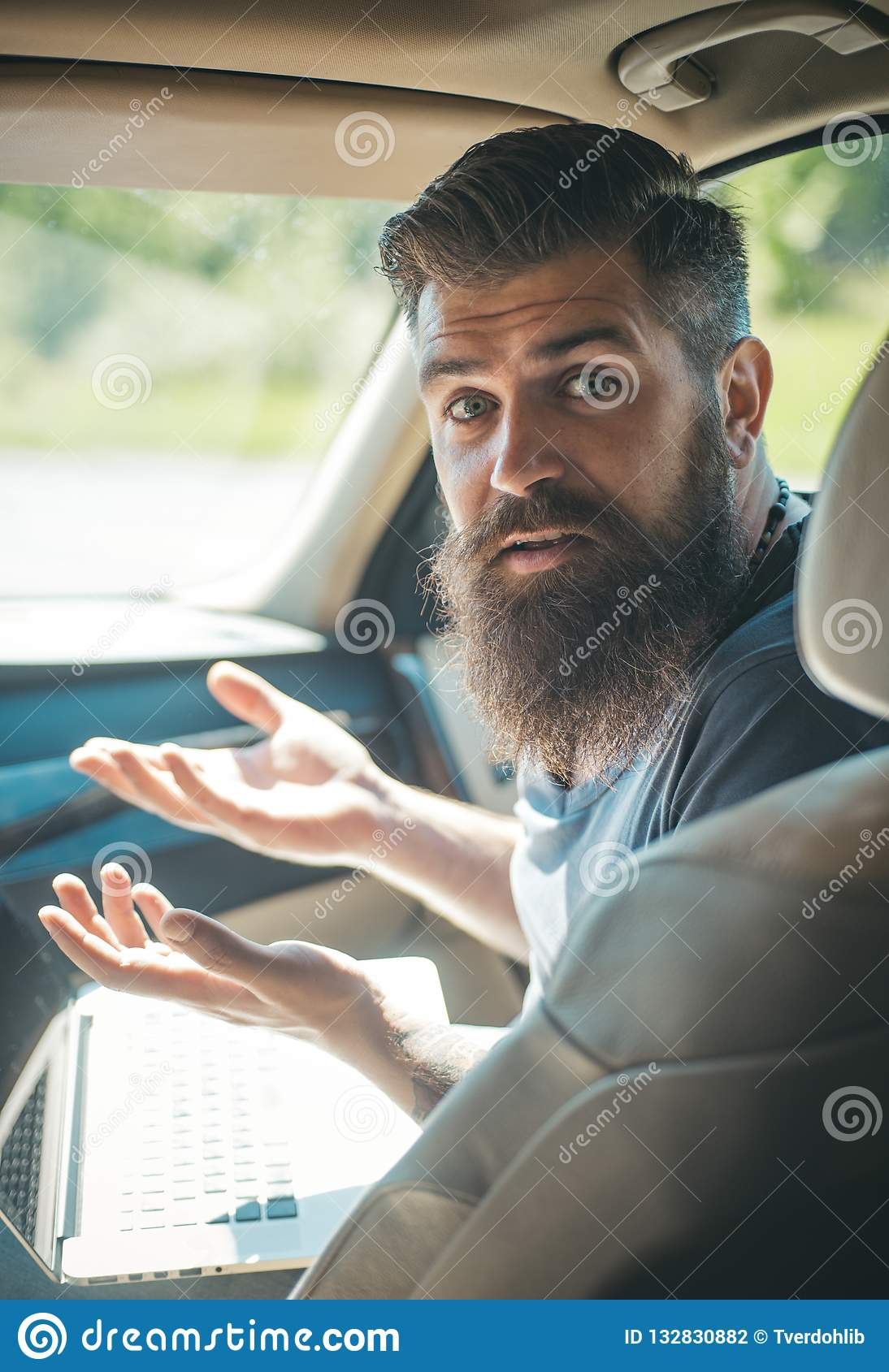 Mature hipster with beard. being late. rush hour. lack of time. deadline. brutal caucasian hipster with moustache. Male