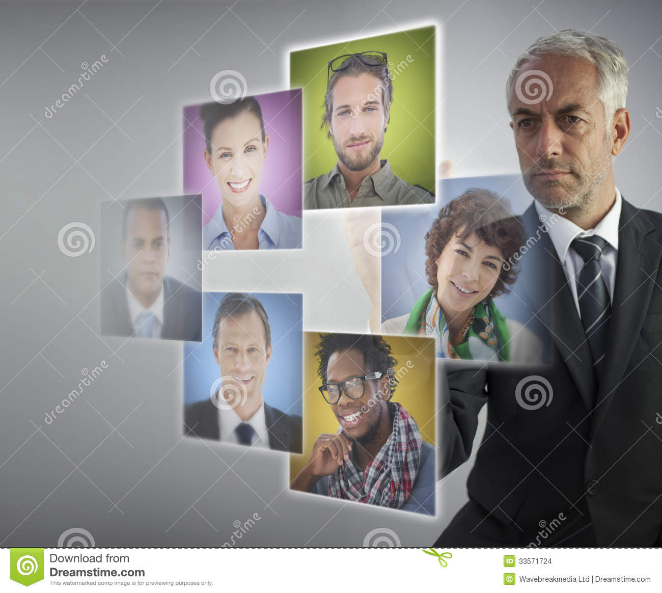 Mature human resources director selecting future employees