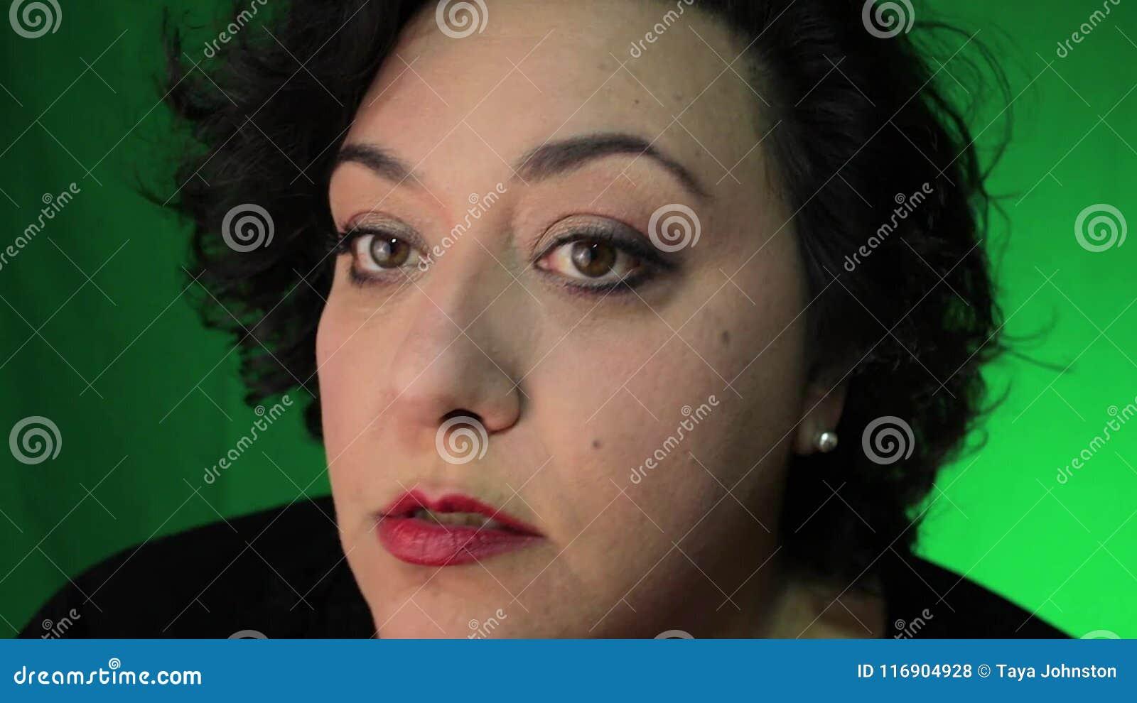 Mature Latina Woman Brushing Face With Powder Stock Footage Video Of Blusher Latina 116904928