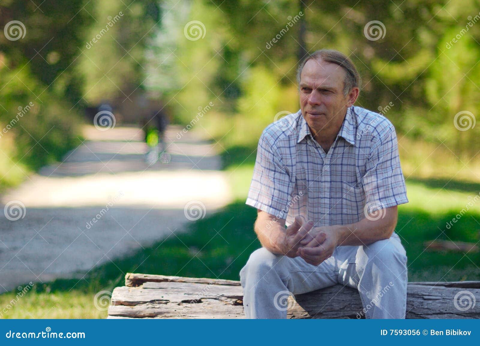 Mature man in park