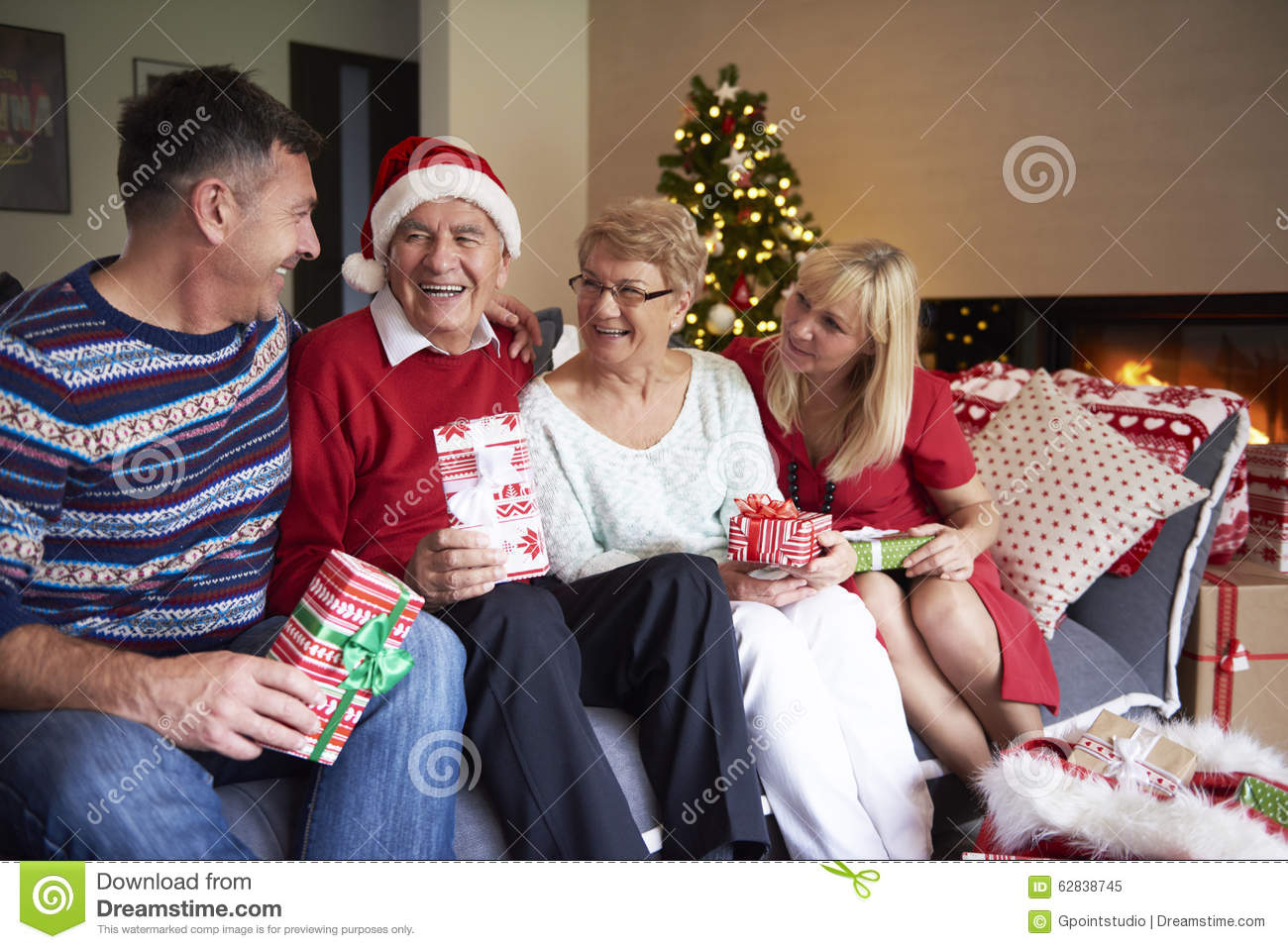 Mature people during christmas stock photo image 62838745