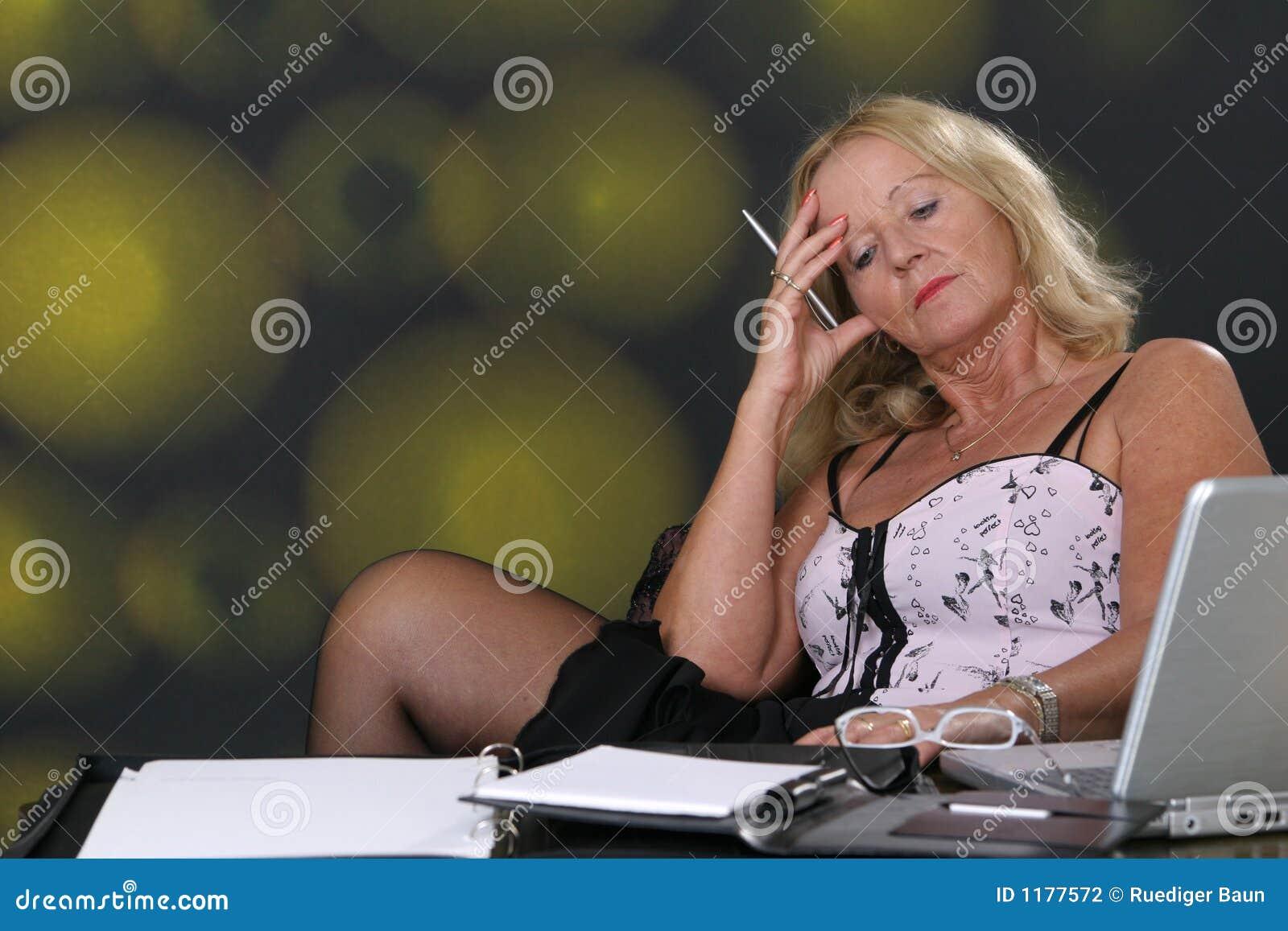 mature secretary stock photo. image of best, fragile, eroticism