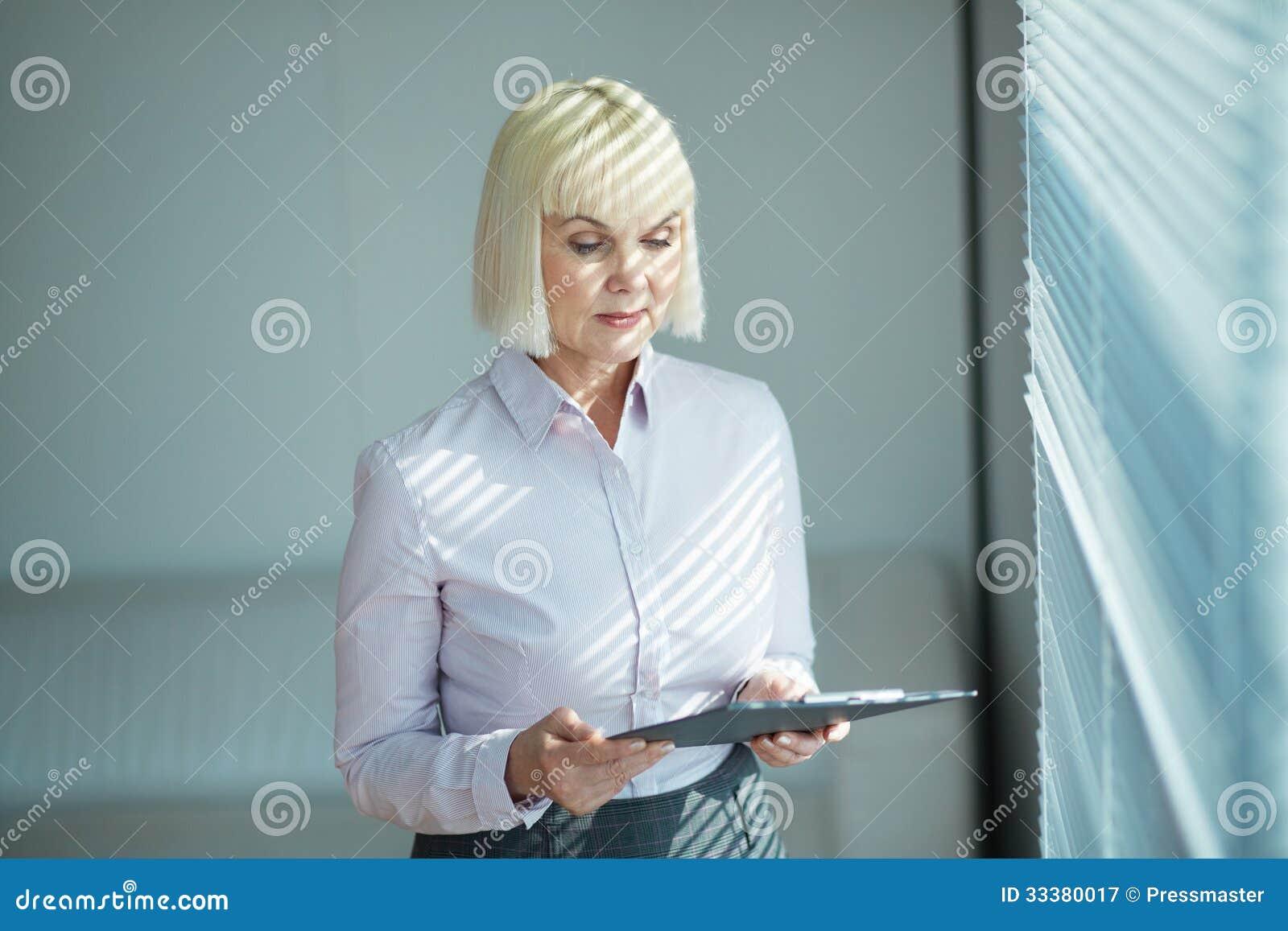 mature secretary stock image. image of formal, caucasian - 33380017