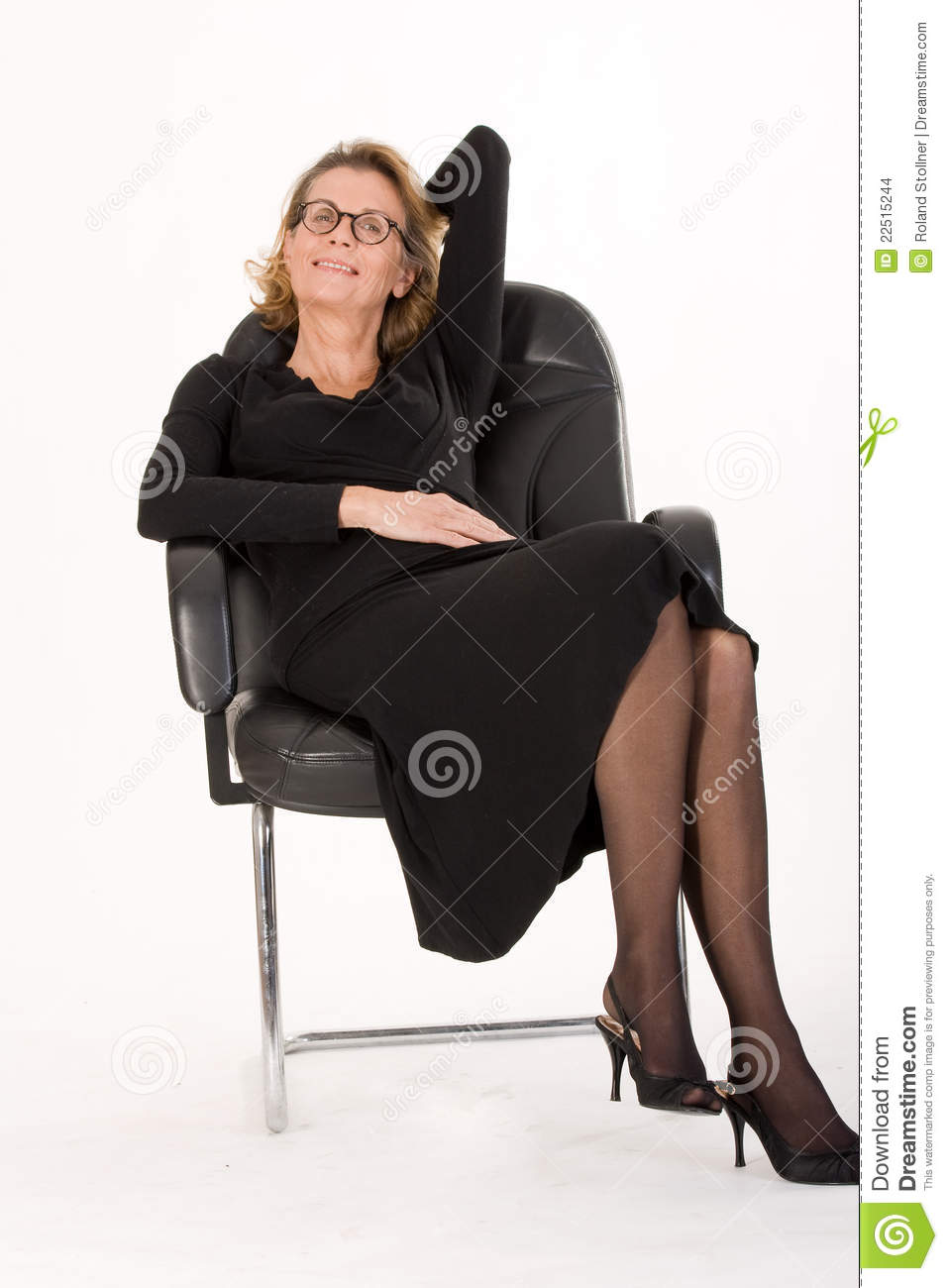 mature secretary in relax stock photo. image of croissant - 22515244