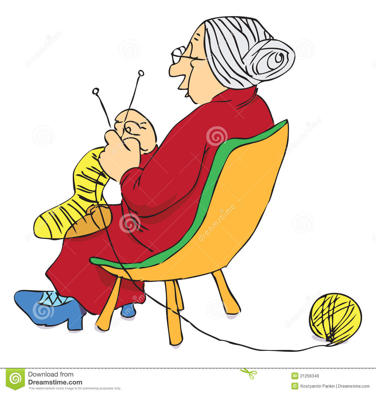 Woman Knitting Clipart : Mature woman royalty free stock images image