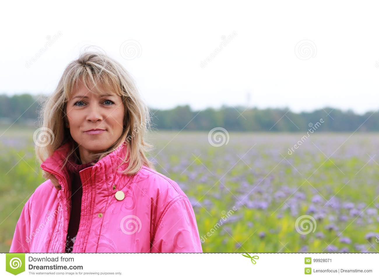 Download Mature woman in autumn stock image. Image of nature, menopause - 99928071