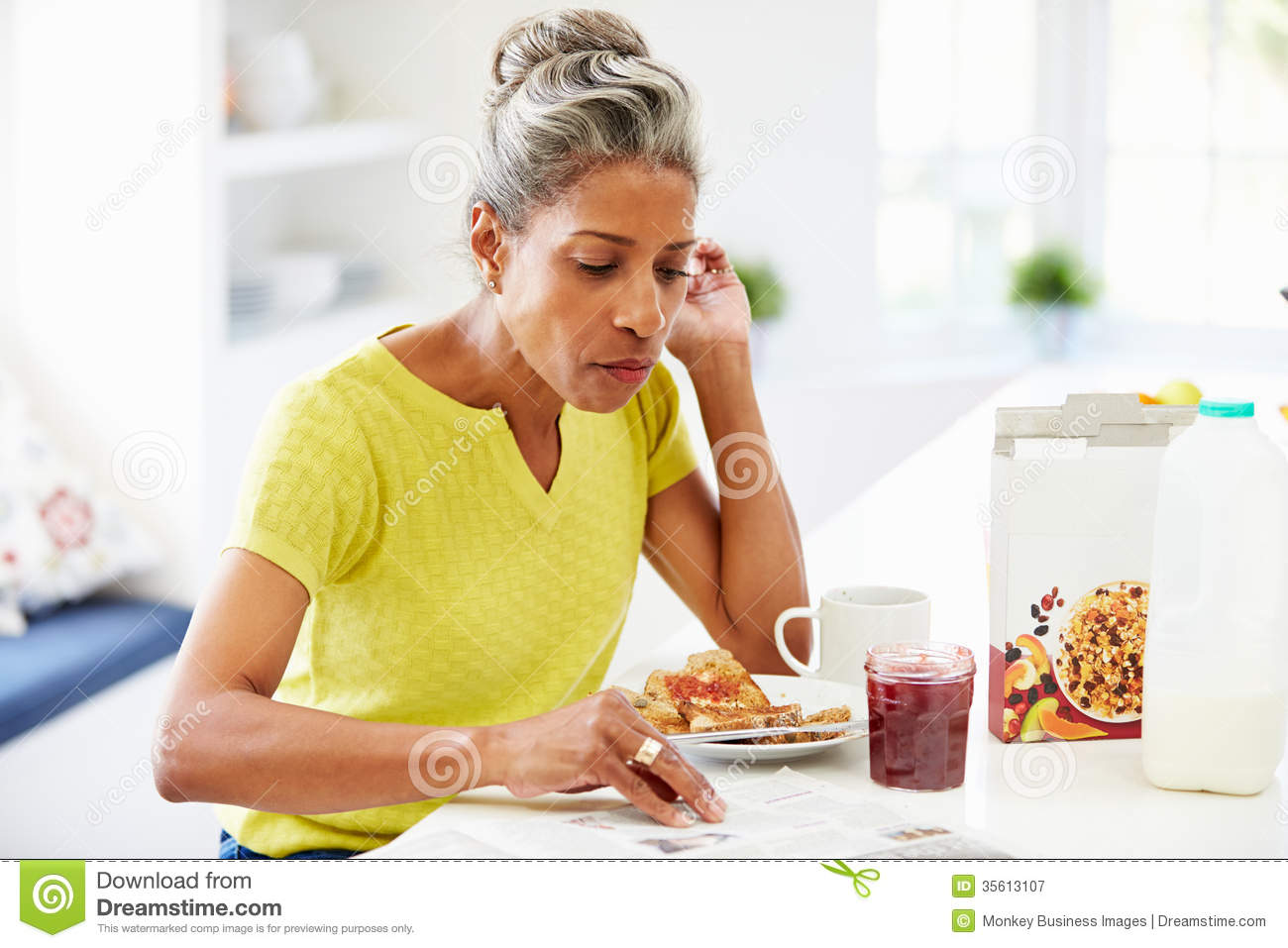 Mature women eating out