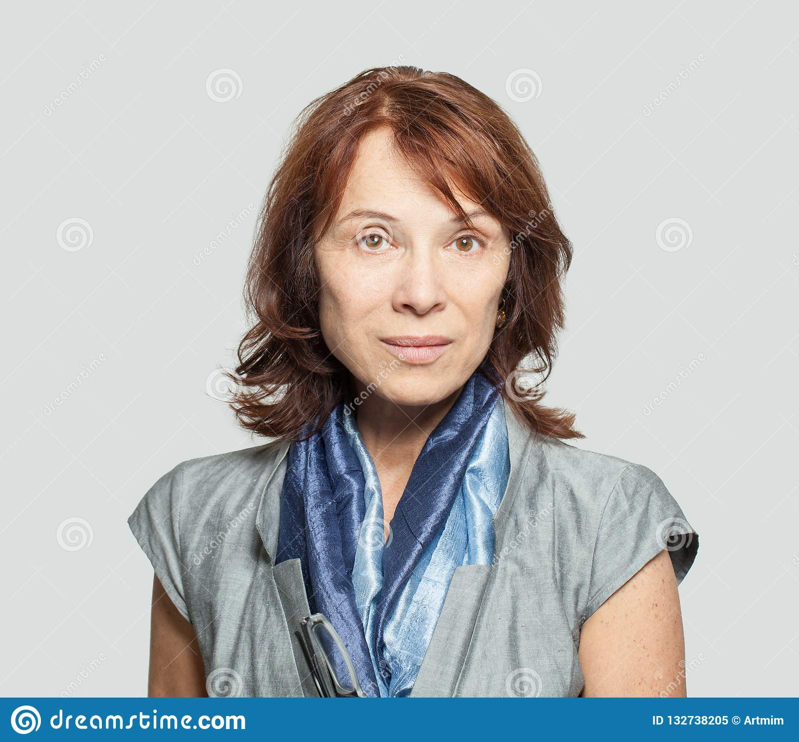 Mature woman face