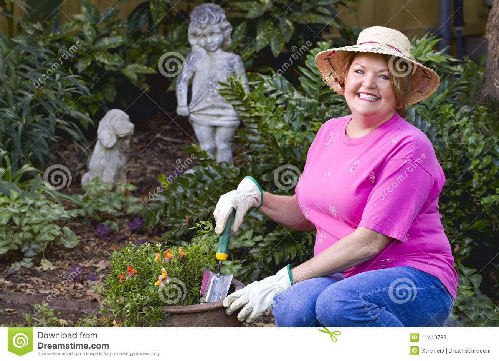 Mature Woman Gardening Stock Photos Image 11410783
