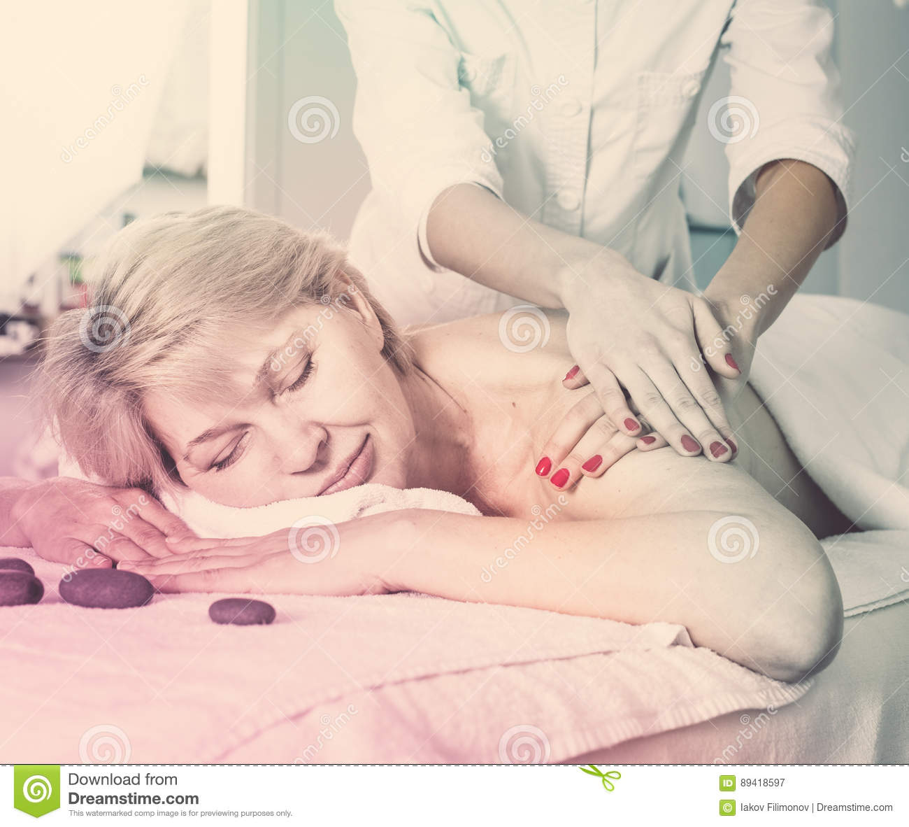 Mature mother massage