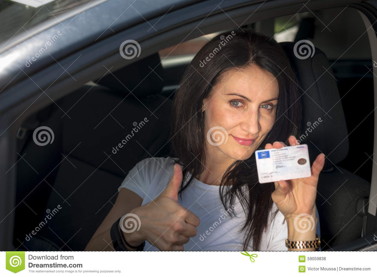 Car And Driver Subscription >> Mature Woman In Her Car Stock Photo - Image: 59059838