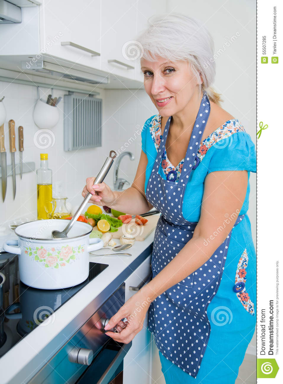 Many mature women kitchen