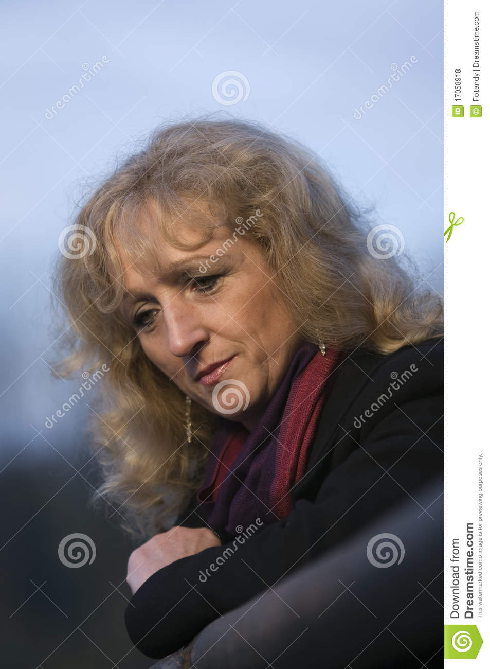 sad woman looking down royalty free stock photos