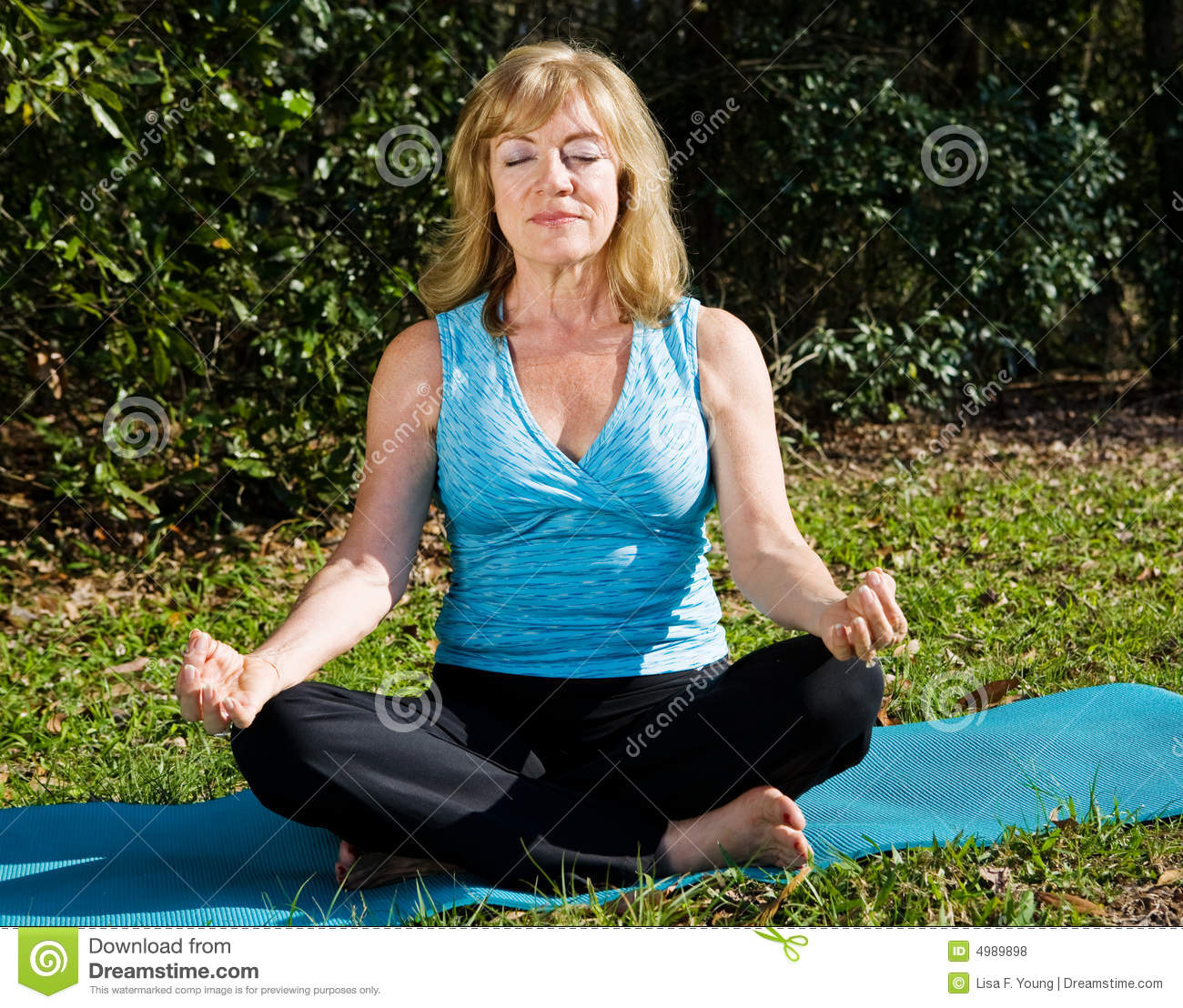 Mature Woman Meditation Royalty Free Stock Photos Image