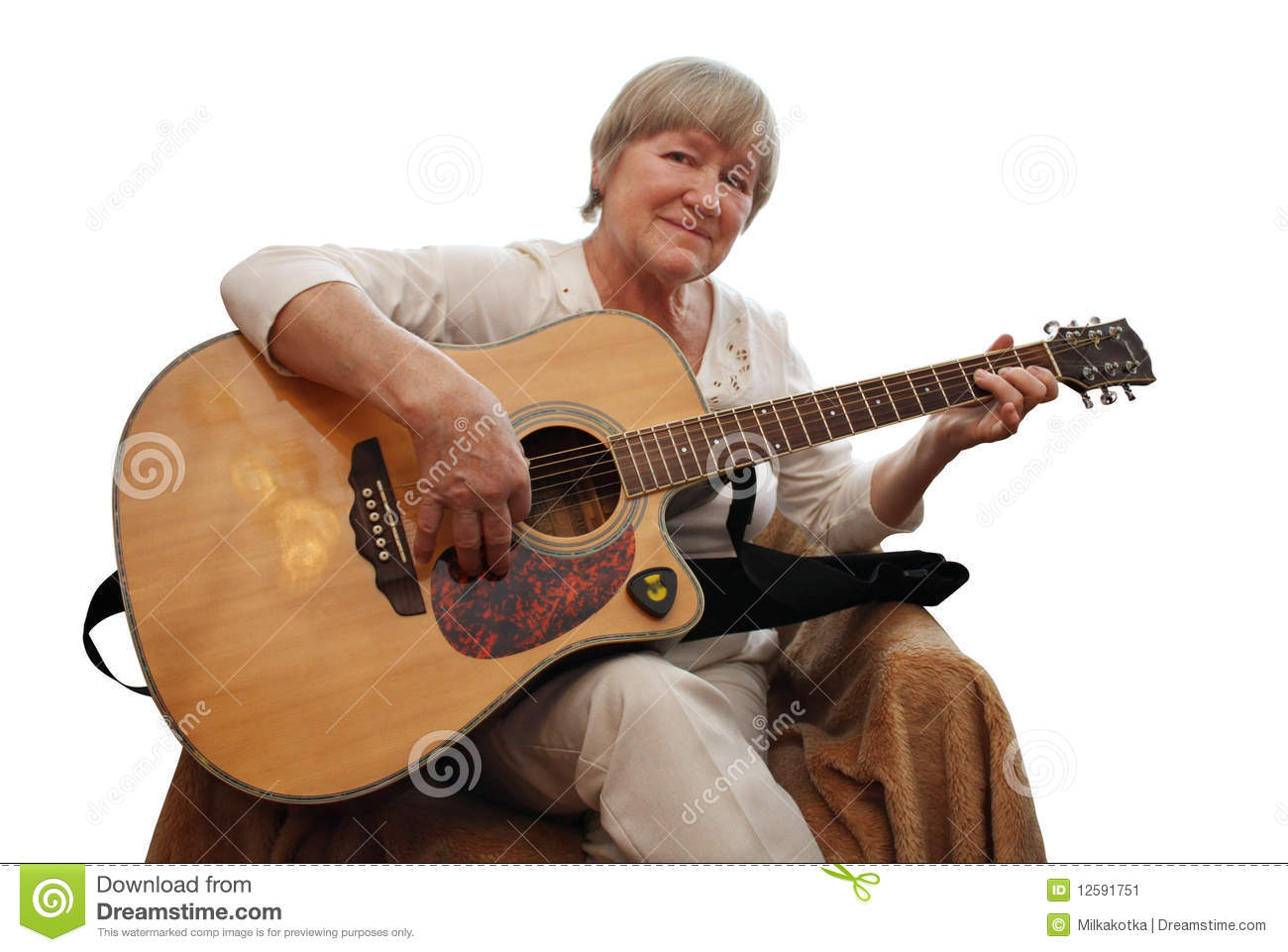 Mature Woman Playing A...