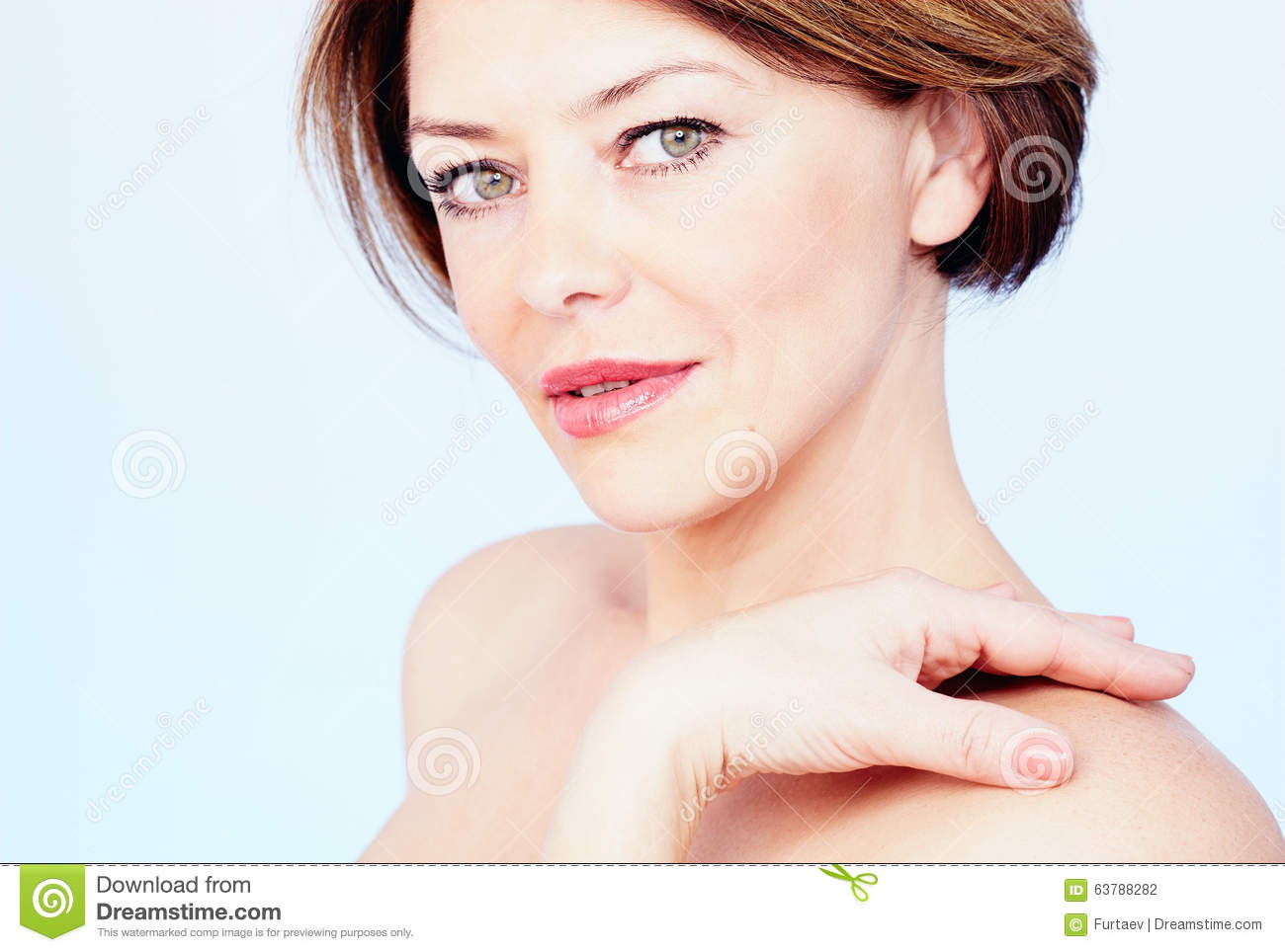 Mature Woman Portrait Stock Photo. Image Of Attractive - 63788282