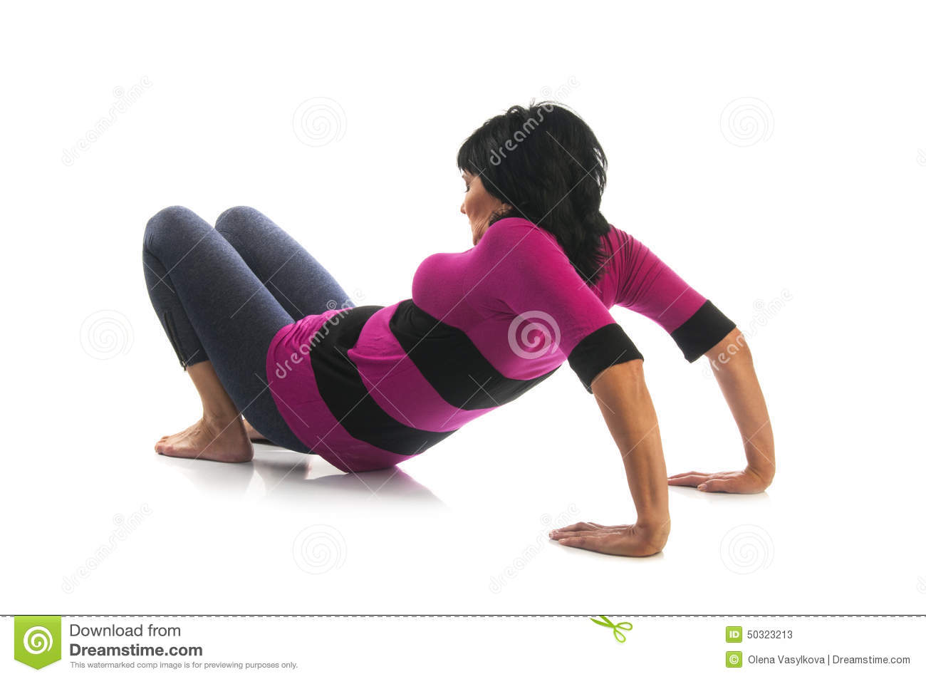 Mature woman in table yoga pose stock image image 50323213 for Table yoga pose